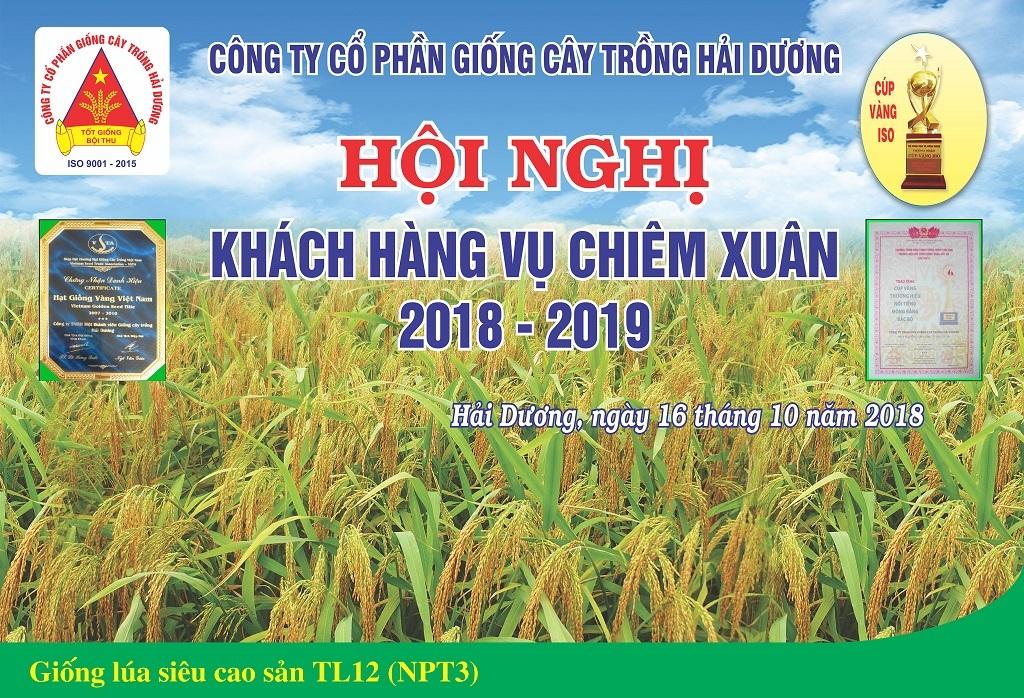 Công ty CP Giống cây trồng Hải Dương tổ chức Hội nghị khách hàng vụ Chiêm Xuân 2018-2019